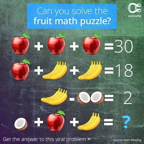 Can You Solve This Fruit Math Puzzle? Bestnaija