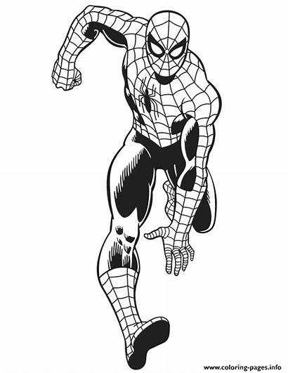 Coloring Spiderman Marvel Spider Colouring Comics Amazing