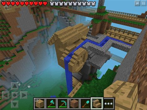 w2 small cliff mill minecraft pe minecraft pinterest