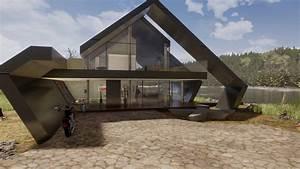 Modernes Haus Satteldach : architektenhaus satteldach in moderner architektur ~ A.2002-acura-tl-radio.info Haus und Dekorationen
