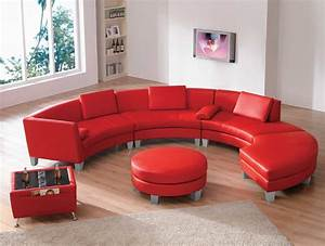 leather sectional sofas amazing 2 in 1 modern With red leather sectional sofa with ottoman