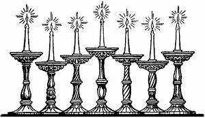 Candles Black And White Clipart (36+)