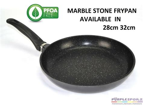 black marble stone coated frypan cookware  stick fry pan induction flavor ebay