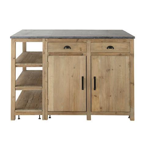 meuble de cuisine independant 206 lot central en bois recycl 233 l 145 cm pagnol maisons du monde