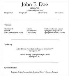 10 acting resume templates free sles exles formats download free premium templates