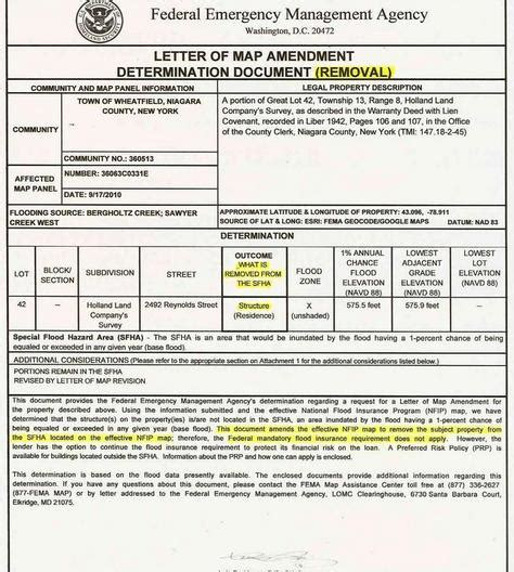 letter of map amendment fema letter of map revision letter of recommendation