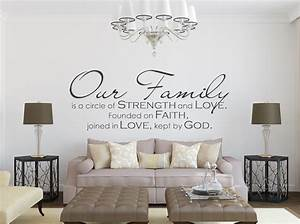 Family Wall Decal - Our Family Wall Quote - Wall Decals by