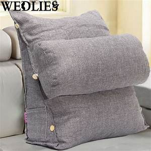 Adjustable sofa bed pillow chair rest neck support back for Back and neck support for bed