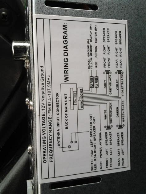 Chevy Spark Radio Wiring by 2004 Chevy Aveo New Stereo Will Not Power On Car Audio