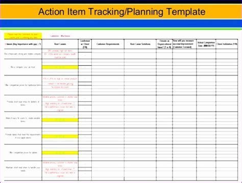 action item template excel exceltemplates exceltemplates