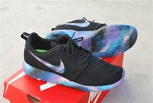 Hand Painted Galaxy Nike Roshe Run from bstreetshoes.com ...