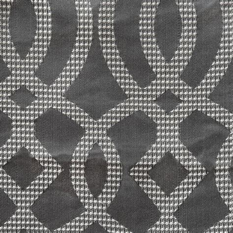 Theater Curtain Fabric Crossword by Designer Grey Silver Platinum Gray Curtains On