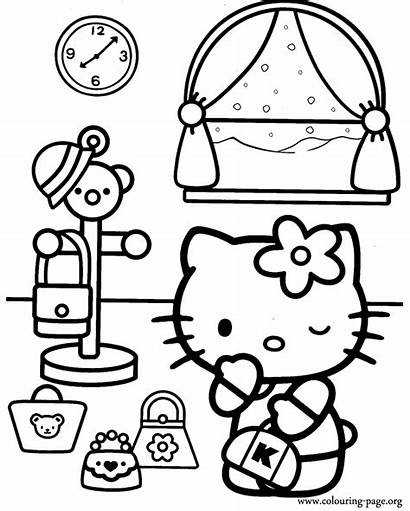Coloring Kitty Hello Colouring Pages Gum Bubble