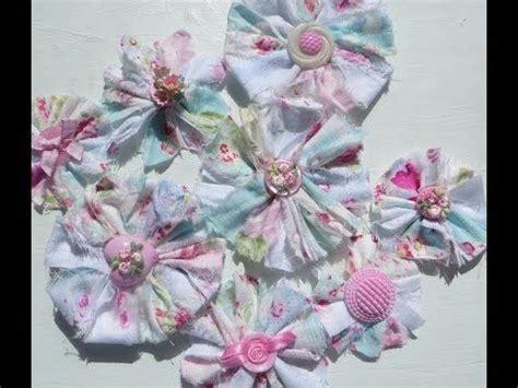 shabby fabrics tutorials chic and cheap shabby scrappy fabric flowers youtube youtube tutorials pinterest shabby