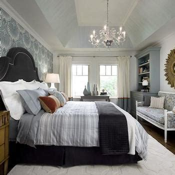 Bed Over Closet by Blue And Gray Bedrooms Transitional Bedroom Farrow