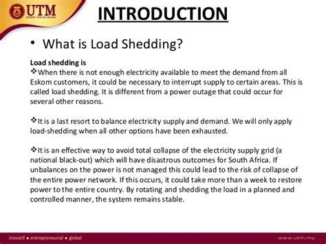 voltage load shedding