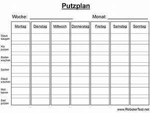 Wohnung Putzen Checkliste : putzplan vorlage zum ausdrucken ~ Lizthompson.info Haus und Dekorationen