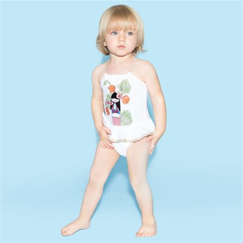 marc jacobs baby girls white  marc swimsuit