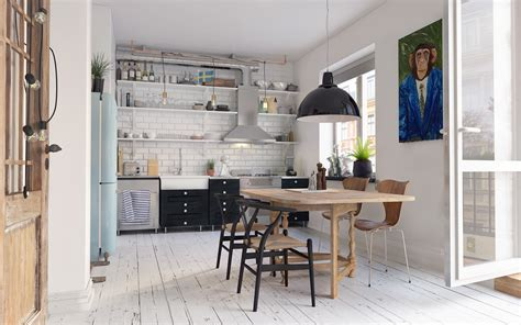 Cozy Scandinavian Interior In Gothenberg(free 3d Model) On