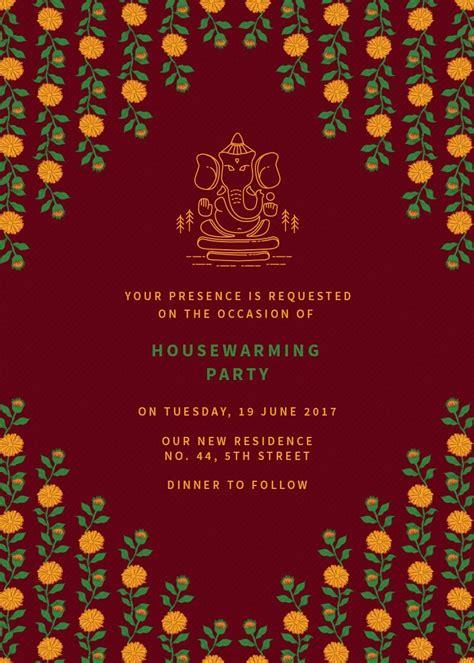 marigold housewarming party invitation invites
