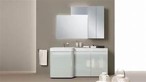 meuble salle de bain en couleur 25 idees charmantes With meuble salle de bain gris clair
