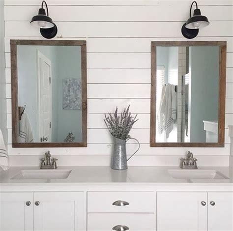 farmhouse bathroom sconce bathroom lighting inspiration courtesy of instagram Farmhouse Bathroom Sconce