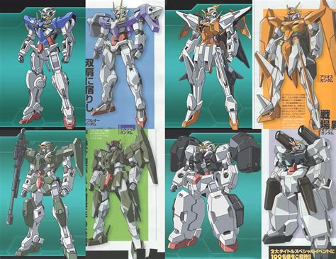Gundam 00 Mobile Suit List by Big Nutchaphon Character Mobile Suit And Technology