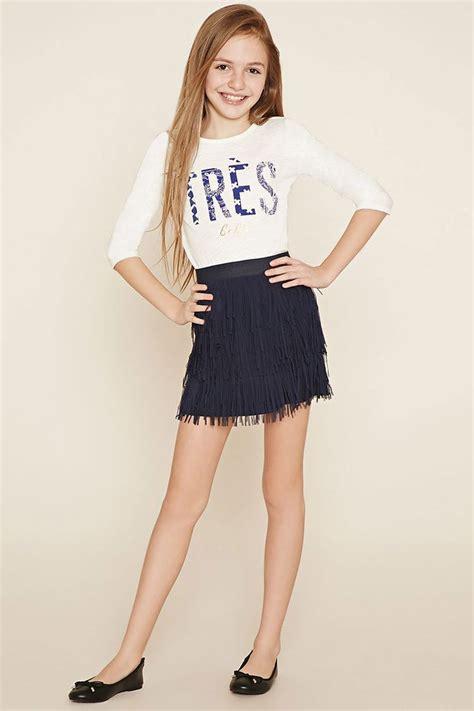 Girls Fringed Skirt (Kids)   Forever 21 girls - 2000185967   In Be Tween   Pinterest   Forever ...