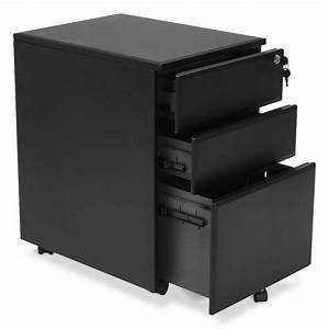 Bureau Metal Noir : caisson de bureau design 3 tiroirs mathias en m tal noir ~ Teatrodelosmanantiales.com Idées de Décoration