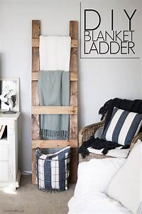 DIY Blanket Ladder Free Plans - Cherished Bliss
