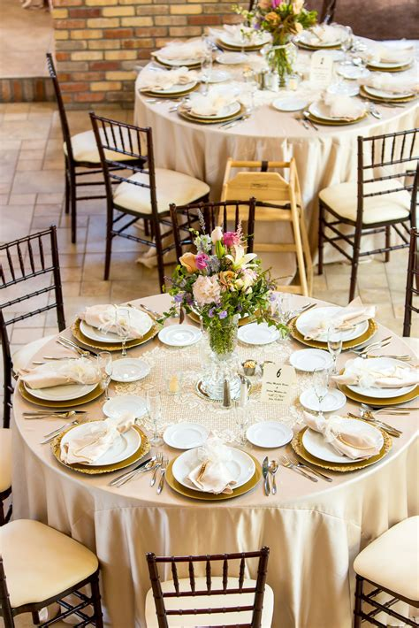 Champagne Colored Linen Oversize Lace Doily Reception