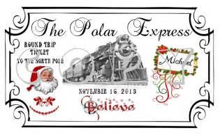 Polar Express Ticket Template