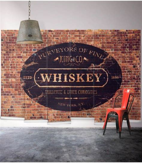 king  whiskey mural wallpaper republic painted