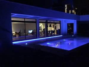 Eclairage Exterieur Piscine : exemple de maison domotique domopad ~ Premium-room.com Idées de Décoration