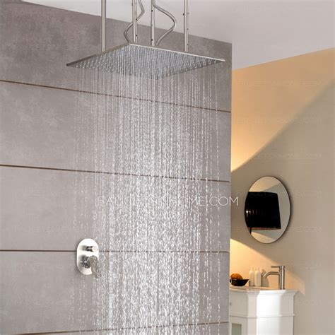 designer bathroom faucets designer square shaped hanging bathroom top shower faucets