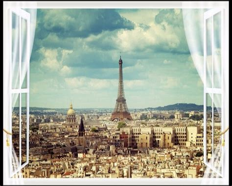 beibehang large wallpapers paris eiffel tower city