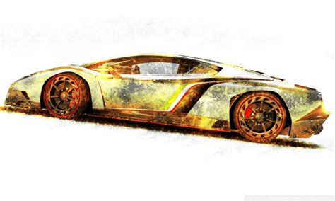lamborghini veneno gold edition  hd desktop wallpaper