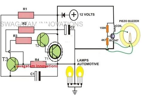 Pin Motorcycle Turn Signal Indicator Circuit With Beeper