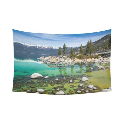 home accents sierra nevada tree tahoe with turquoise water wall home decor nevada rocks mountains lake