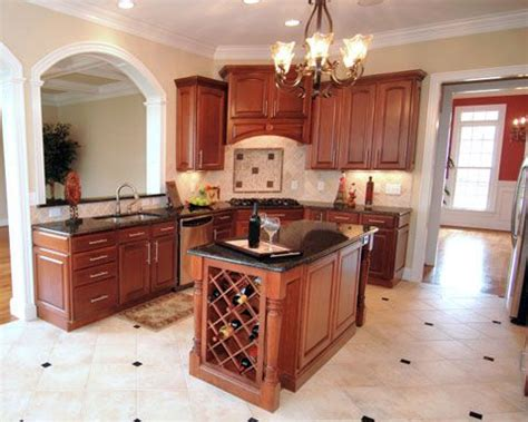 center kitchen island the layout of this traditional style kitchen perfectly 2052