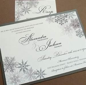 lacy snowflake winter wedding invitations december With wedding invitations for december