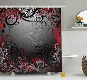 Rideau Rouge Et Noir : douche noir et rouge ~ Teatrodelosmanantiales.com Idées de Décoration