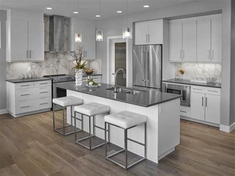 kitchen furniture edmonton white kitchen with grey quartz counters and large island