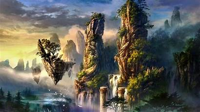 Island Floating Fantasy Backiee Landscape Wallpapers