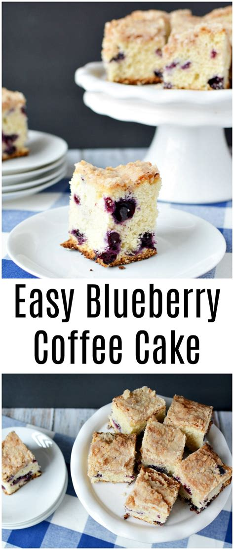 I came up with an easy way to make it on the stove in a cast iron skillet today! Easy Blueberry Coffee Cake Recipe - The Rebel Chick