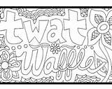 Coloring Waffle Sheets Getcolorings sketch template