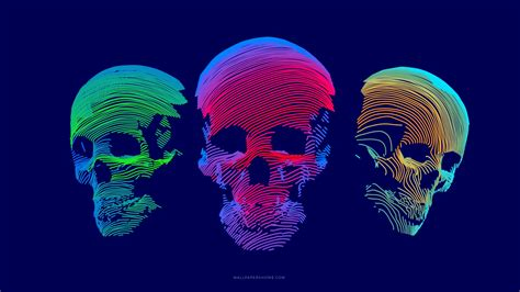3d Wallpaper Abstract by Wallpaper Abstract 3d Colorful Skull 8k Abstract 21287