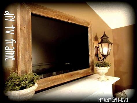 ugly split level diy barn wood tv frame diy home