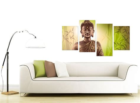 Canvas Prints For Living Room : Canvas Art Of Buddha In Green For Your Living Room