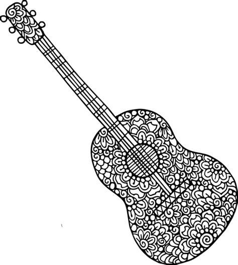 guitar doodle coloring kidspressmagazinecom